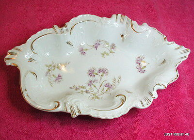 """Schumann Dresden Germany Crown Mark 11"""" OVAL BOWL Exc"""