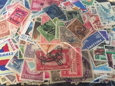 600 different PHILIPPINES early stamp lot from collection; item #476