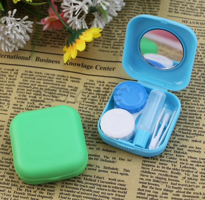 Contact Lens Travel Kit - Mini Pocket size Easy Carry Mirror Container