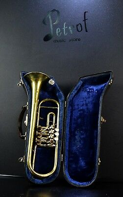 Top Brass Vintage Rotary Trumpet Lidl Brno /Flugelhorn/+Org.Hard Case&Mouthpiece