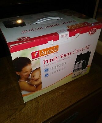 New Ameda Purely Yours Carry All Double Electric Breast Pump With Carrying Tote