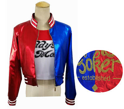 Harley Quinn Suicide Jacket Deluxe Harley Quinn Suicide Fancy Dress Costume