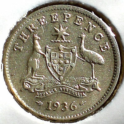 1936 Threepence (almost UNC)