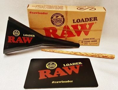 Raw Classic Rolling Papers King Size + 98 Special Cone Loader w Card Poking Tool