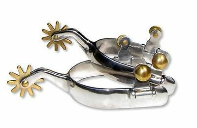 Horse Spurs-- Stainless Steel Spurs With Brass Rowel