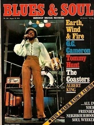 Tommy Hunt Blues & Soul Issue 205 1976  G C Cameron  Earth Wind & Fire  Coasters