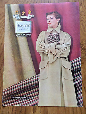 1950 Forstmann 100% Virgin Wool Fashion Ad