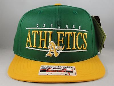 Oakland Athletics MLB Snapback Hat Cap American Needle Nineties Green Gold 0269fc084ac8
