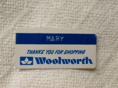 Vintage WOOLWORTH store employee badge / pin - from 1975 - original owner