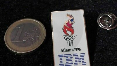 IT Cebit Technology Telecom Pin Badge IBM Olympic Games Sponsor Olympiade Atlant