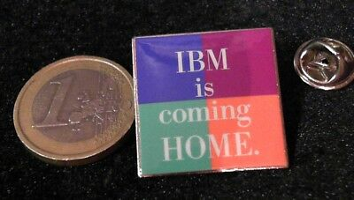 IT Cebit Technology Telecom Pin Badge IBM is coming Home