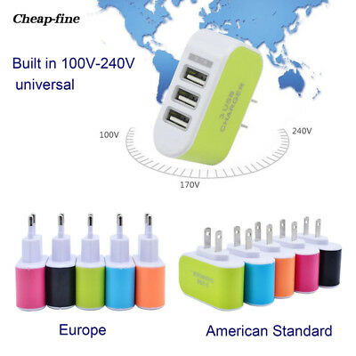 Practical Travel USB Charger Plug Phone American Standard European Standard