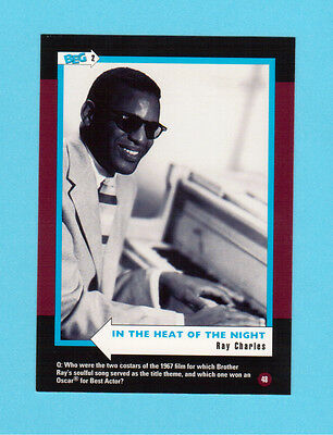 Ray Charles Soul Music Collector Card  Have a Look!