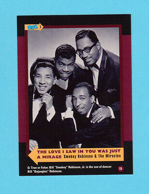 Smokey Robinson & The Miracles  Soul Music Collector Card  Have a Look!