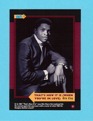 Otis Clay  Soul Music Collector Card  Have a Look!
