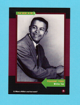 Willie Tee  Soul Music Collector Card  Have a Look!