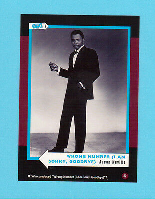 Aaron Neville Soul Music Collector Card  Have a Look!