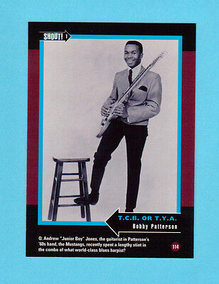 Bobby Patterson Soul Music Collector Card  Have a Look!