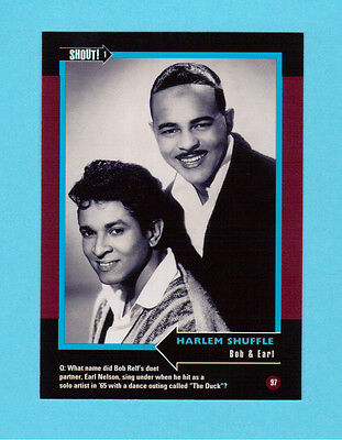 Bob & Earl  Soul Music Collector Card  Have a Look!