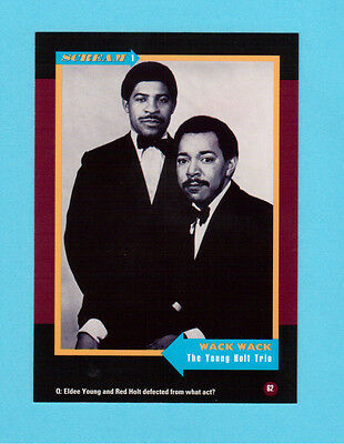 The Young Holt Trio Soul Music Collector Card  Have a Look!