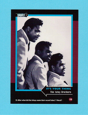 The Isley Brothers Soul Music Collector Card  Have a Look!