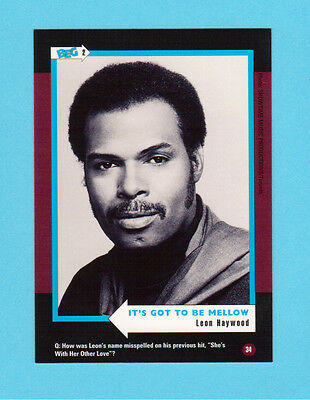 Leon Haywood Soul Music Collector Card  Have a Look!