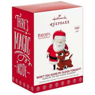 Hallmark Keepsake Rudolph the Red-Nosed Reindeer Guide My Sleigh Tonight? *New*