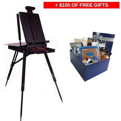 Mont Marte Floor Easel - French Box Style Black