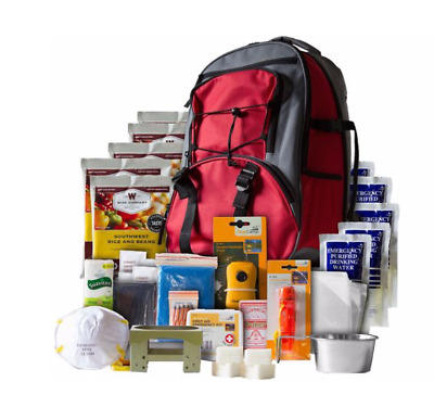First Aid Emergency Disaster Earthquake,Hurricane 4 Person Deluxe Survival Kit