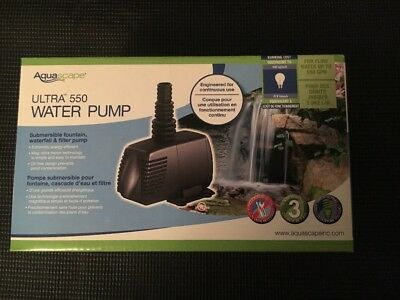 Aquascape Ultra 550 Water Pump 550 GPH 91006 Garden Pond Waterfall Pump