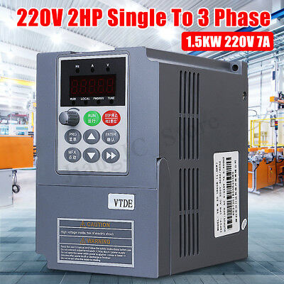 1.5KW 3PH 220V Single Phase Variable Frequency Drive Inverter VSD VFD AUS PWM