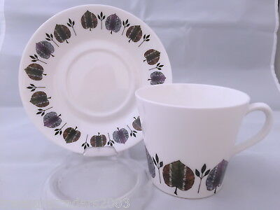 🌟 Royal Vale Pattern 8372 Leaf  Bone China England  Duo Teacup & Saucer
