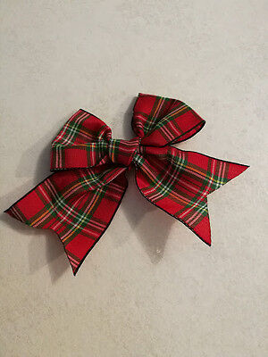 Pack of 6 Tartan Bow 110mm x 80mm