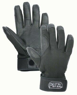 Petzl Cordex Belay Abseiling Gloves - Black - M