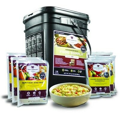 WISE 120 serve Mains Freeze Dried Food Emergency Prepper 25 Year Shelf life TUB