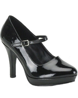 Black Mary Jane Wide Fit Womens Shoes