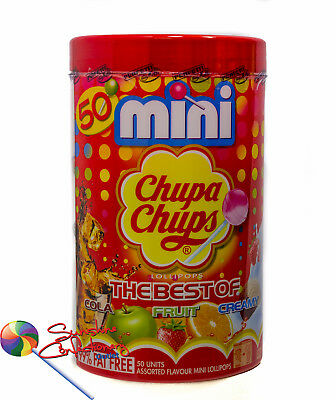 Mini Chupa Chups Lollipop - 50 lollipops - The Best of Cola,Fruit,Creamy