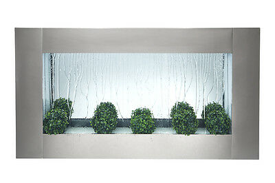 Spring Sale! 180 cm Horizontal Brushed Stainless Steel Fountain, Water Feature
