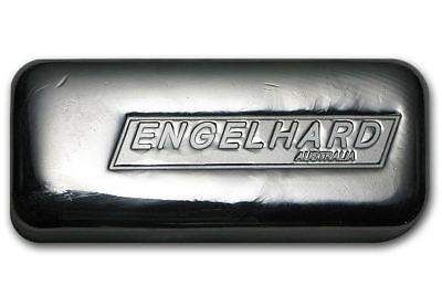 10 oz 99.9 cast silver bullion bar with serial number - Engelhard Australia