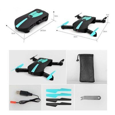 Foldable 6-Axis ELFIE Quadcopter WIFI 720P FPV Phone Control Poket Camera Drone
