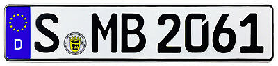 Mercedes Stuttgart Front German License Plate by Z Plates wtih Unique Number NEW