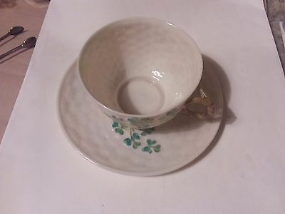 Teacup And Saucer  - Belleck - Black Mark