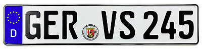 Germersheim Front German License Plate (GER) by Z Plates with Unique Number NEW