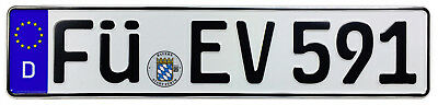Fürth Front German License Plate (FÜ) by Z Plates with Unique Number NEW
