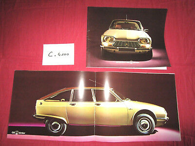 N°C.4100 / catalogue CITROEN GS Birotor fevrier 1974