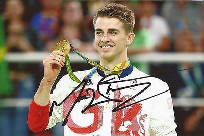 GYMNASTICS: MAX WHITLOCK SIGNED 6x4 RIO 2016 GOLD MEDAL PHOTO+COA **PROOF**