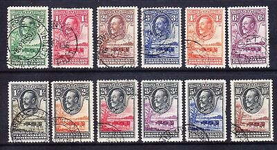 BECHUANALAND George V 1932 SG99/110 set of 12 - very fine used. Catalogue £600