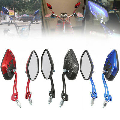 1 Pair Universal Motorcycle Motorbike Scooter Bike 8/10mm Rear View Side Mirror