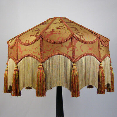 Victorian Vintage Standard Beaded Lampshade **REDUCED FROM £284.00 TO £270.00**