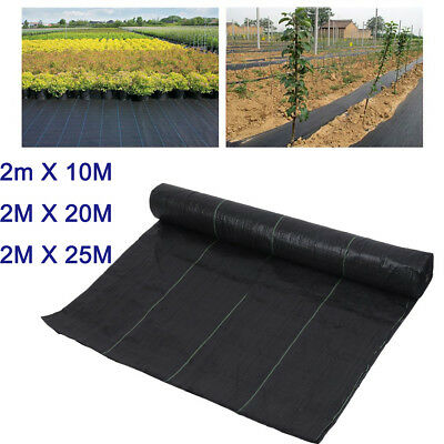 2m Wide HEAVY DUTY 100gsm Weed Control Fabric Ground Cover Membrane Landscape UK